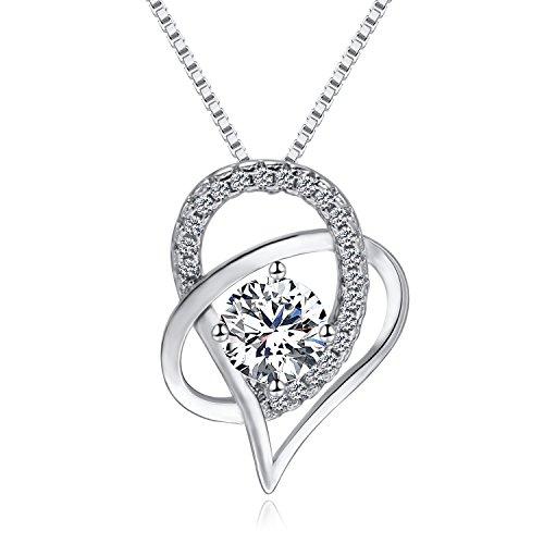 sterling silver necklace_zirconia necklace_woman necklace_crystal necklace_wedding necklace jewelry hypoallergenic