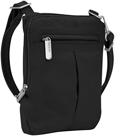 Travelon Anti-Theft Classic Light Mini Crossbody Bag, Black
