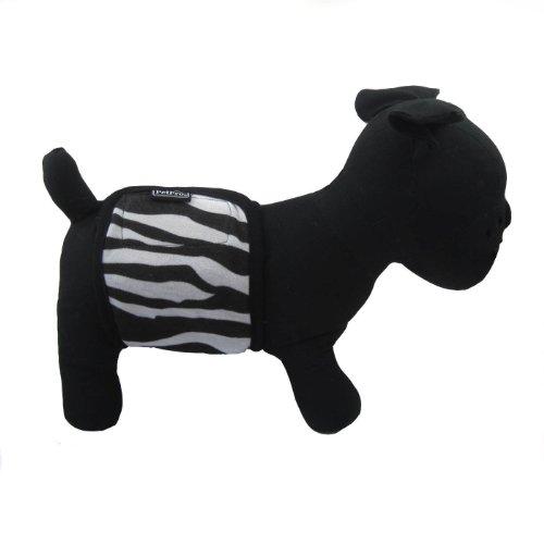 Alfie Couture Designer Pet Accessory – Tad Belly Band – Color: Zebra, Size: Large, My Pet Supplies