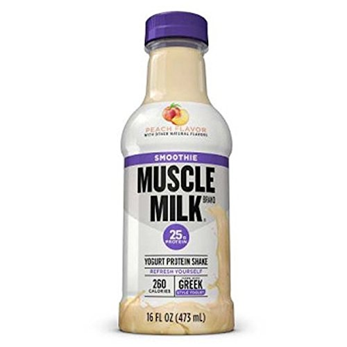 Muscle Milk Smoothie Protein Yogurt Shake, Peach, 25g Protein, 15.8 FL OZ, 12 count