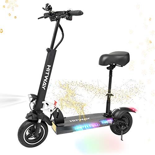 Hitway Monopattino Elettrico Unisex Adulto Scooter Elettrico Fuoristrada Con Sedile Scooter Monopattino Elettrico Pieghevole 50 Km