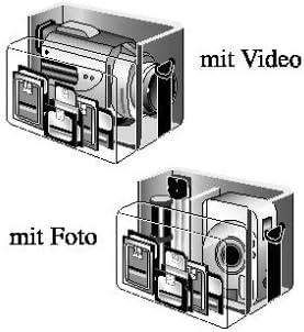 Samsonite Trekking D F V2 Foto Videotasche Schwarz Kamera