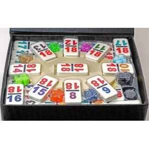EIGHT MEXICAN TRAIN MARKERS 1 BLACK 8 1 WHITE AND 6 ACRYLICS FREE SHIPPING