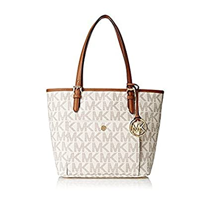 5c5b84676b28 Buy Michael Kors Jet Set Women s Travel Medium Logo Tote Handbag Online at  Low Prices in India - Amazon.in
