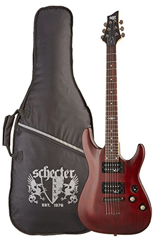 C-1 SGR by Schecter Beginner Electric Guitar - Walnut Satin (Amazon Exclusive)