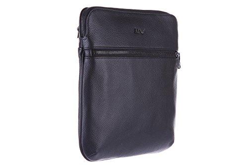 Armani Jeans sac homme bandoulière en cuir noir