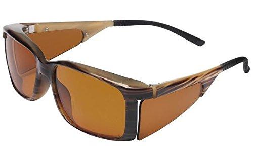 エッシェンバッハ ウェルネスプロテクト 遮光眼鏡 ライトブラウン大No1663-265 B018V28Z4Q