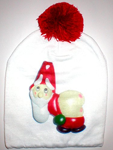 Mooning Pants Down Santa Claus Winter Hat Beanie Accessory Matcing Add to Ugly Christmas Sweater