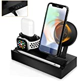 Wireless Charger,8 in 1 Qi-Certified Charging Stand Compatible with iPhone Xs Max/XS/XR/X, Charging Stand Replacement for Apple Watch/AirPods,USB Charging Station Dock for Multiple Devices