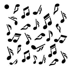 Amazon Com Music Notes Stencil By Studior12 Musical Repeating