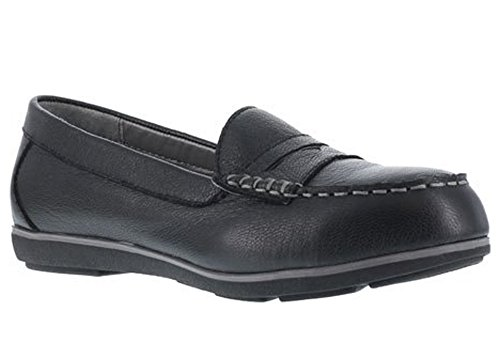 Rockport Work Women's Top Shore RK600 Work Shoe, Black, 9 M US