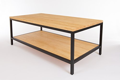 Bamboogle Brooklyn Loft Collection Modern Bamboo Furniture Coffee Table  With Black Legs, Timber By Bamboogle
