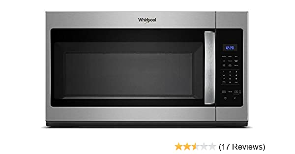 Whirlpool WMH31017HS 1.7 Cu. Ft. 1000W Stainless Over-the-Range Microwave