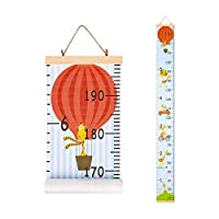 Basumee Height Chart for Kids Wall Ruler Growth Chart Wood and Canvas Wall Decals 7.9x79 in