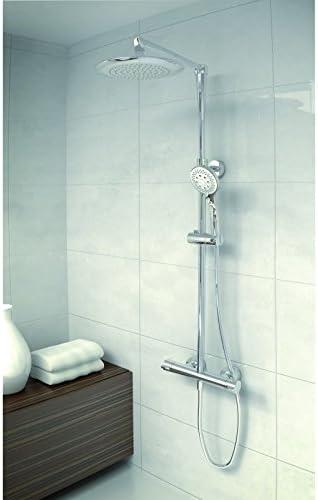 Columna de ducha termostática Jolie, color cromo, 250 mm douche de ...