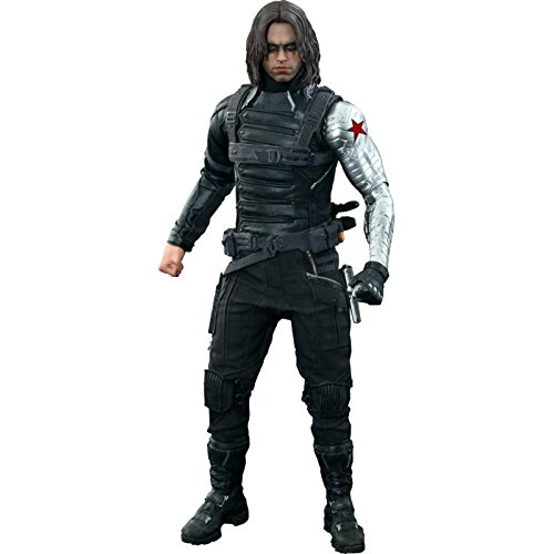 Hot Toys Winter Soldier Sixth Scale Action Figure, Captain America ()