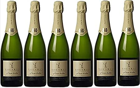 """Vouvray""""método tradicional de burbujas finas"""" recogida en lotes de 6 botellas de 75cl."""