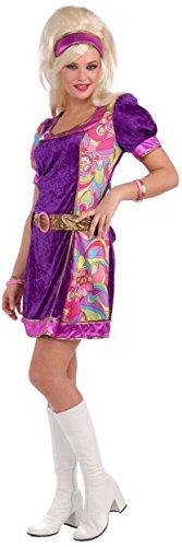 60s Mod Girl Costume (Forum Novelties Women's 60's Revolution Funky Time Go-Go Girl Costume, Multi, Medium/Large)