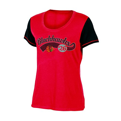 NHL Chicago Blackhawks Women's Scoop Neck Tunic Tee, Large, (Chicago Tunic)