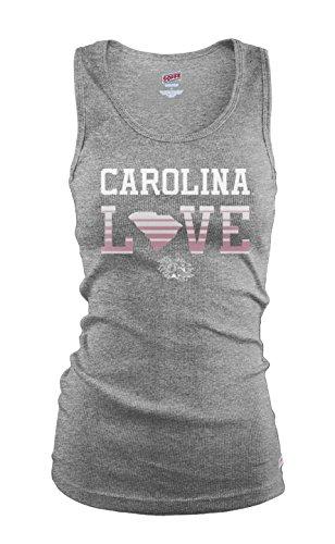(NCAA South Carolina Fighting Gamecocks Junior Classic College Logo Ribbed Tank Top, Medium )