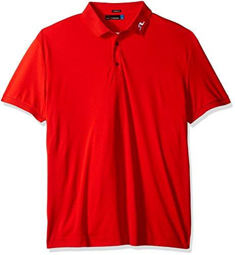 J.Lindeberg Men's Kv Jersey Polo Shirt, Racing Red, S (Polo Racing Mens)