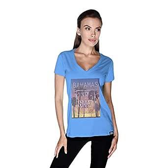 Creo Bahamas Beach T-Shirt For Women - M, Blue
