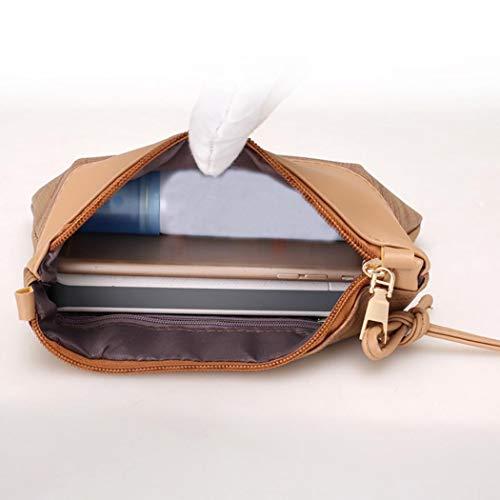 en Rétro Bandoulière Sac Kaki Simple Pochette Cuir Sac à Bandouliere Rameng Femme Bq1wzq