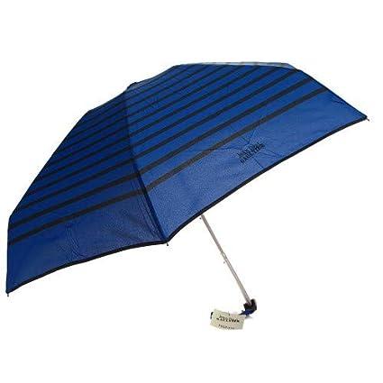 Jean Paul Gaultier - paraguas plegable micro rayas azules reales