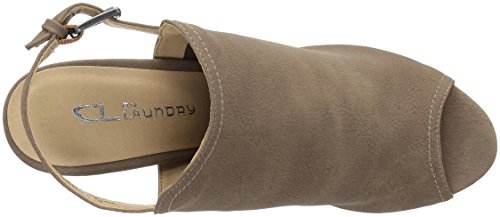Sandal Burnished Dark Wake Chinese up by Dress CL Taupe Laundry Women's aF0q1