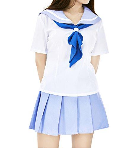 DAZCOS US Size Japan School Uniform Dress Mankanshoku Mako Costume (Women XS)