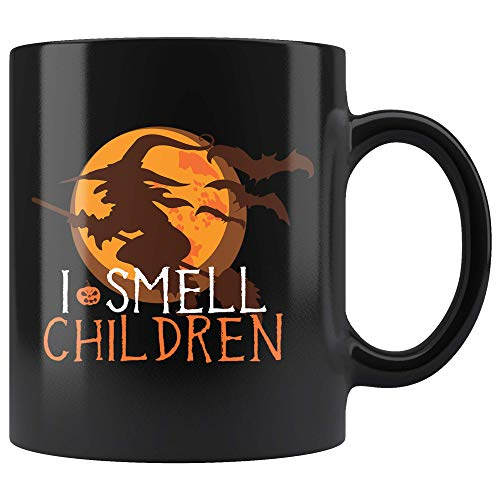 I Smell Children Mug, Silhouette Quote Mug, Halloween Mug, Halloween Saying Mug, Fall Mug, Witch Mug, Fun Halloween -