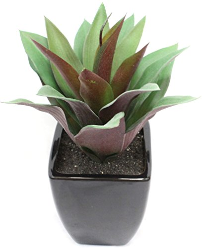 Faux Agave Plant 11 inch Ceramic Pot (Green and - Agave Silk Plant