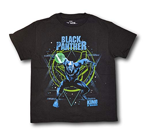 Marvelkids Boys Black Panther Glow in The Dark Short Sleeve Tee T-Shirt - Sleeve Short T-shirt Glow