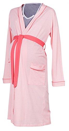 camicia separatamente vestaglia Cipria Mama Vestaglia Venduti da Happy notte allattamento Rosa 393p qOExp0