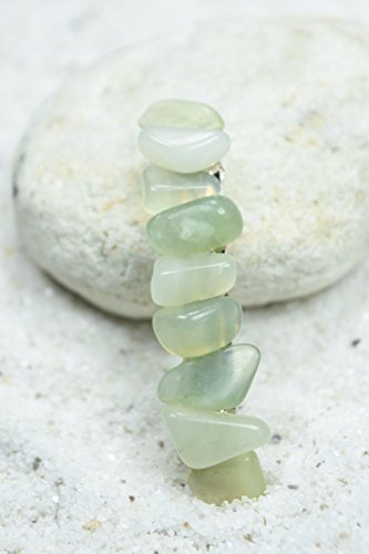 Green Jade Stone French Barrette Hair Clip - 60 mm