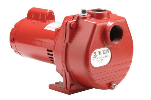 Red Lion RLSP-200 Self-Priming High Capacity Sprinkler Pump, Cast Iron Pump, 2-HP 80-GPM - Lawn Sprinkler Pump