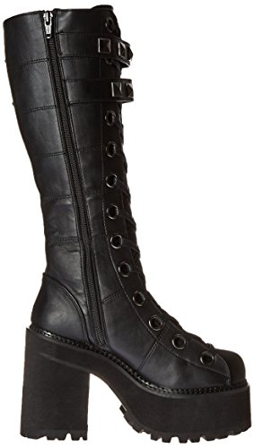 Demonia ASSAULT-202 Blk Vegan Leather UK 8 (EU 41 )