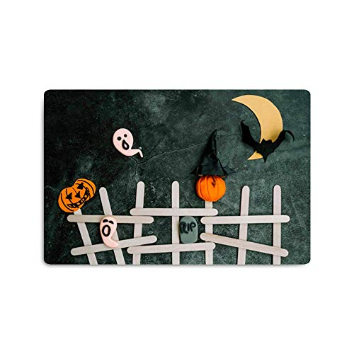 Halloween Decoration Pattern Customized Non-Slip Area Mat Home Decor,Floor Mat Living Room Bedroom Carpets Doormats 16 x 24 -