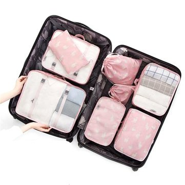 K&A Company 8PCS/Set Travel Luggage Organizer Storage Pouches Suitcase Packing Bags, 3