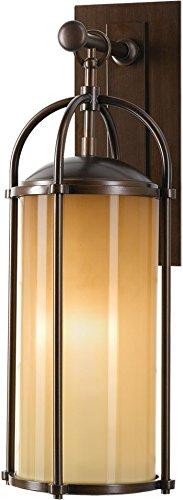 Feiss OL7601HTBZ Dakota Outdoor Patio Lighting Wall Lantern, Bronze, 1-Light (8