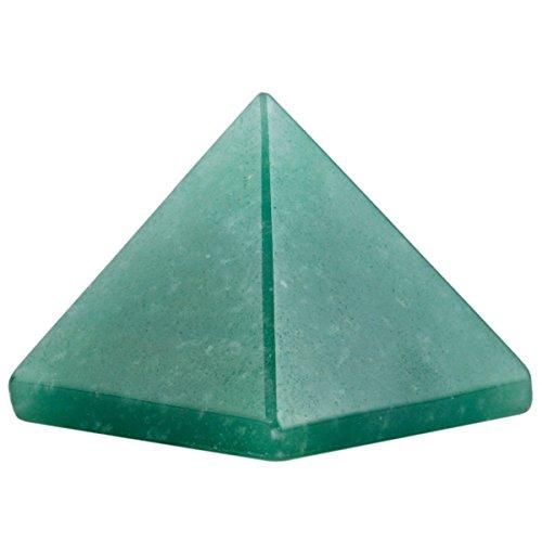 High Quality Natural Green Aventurine Pyramid Chakra Energy Generator Reiki Size Approx. 1.5-2