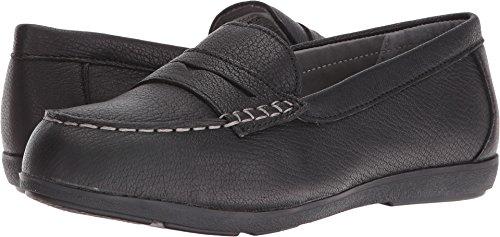 Rockport Womens Black Leather Work Shoes Top Shore Penny Loafer Steel Toe 11.5 M (Toe Dissipative Electrostatic Slip)