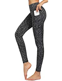 High Waist Yoga Pants for Women Side & Inner Pockets with...