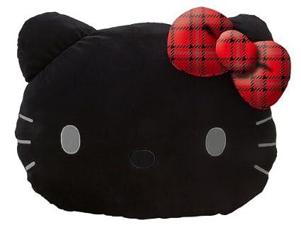 Amazon.com: Hello Kitty Black Face Die Cut Cojín: Tartán ...