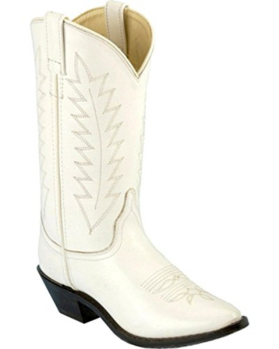 Old West Women's Corona Cowgirl Boot Medium Toe White 6 M US