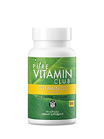 Vitamin D3 Plus K Complex 90 Day Supply - NO Fillers, NO Binders, NO