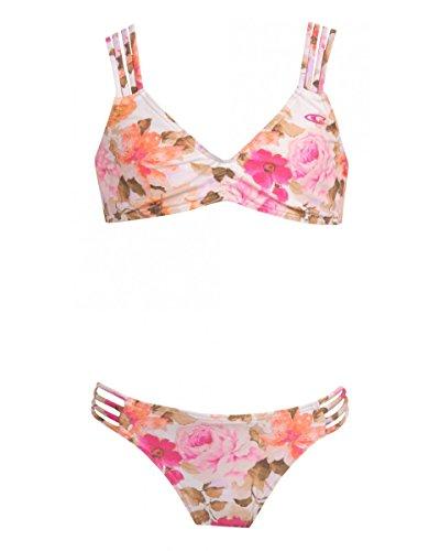 O'Neill Big Girls' Lala Multistrap Bikini, Cream, 10