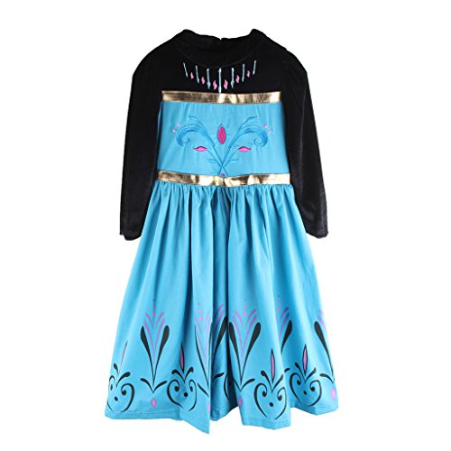 [EITC Snow Queen Princess Party Cosplay Costume Girls Dress Up 4T] (Flower Fairy Costume Ideas)