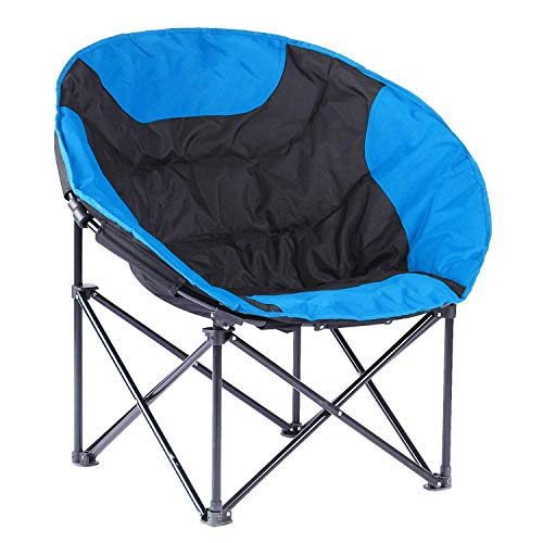 - ASdf Deluxe Sun Moon Chair Outdoor Sun Loungers Super Soft Cotton Fabric Sun Chairs Multicolor Balcony Leisure Folding Chairs (Color : Blue)