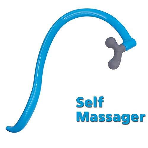 CARELAX Self Massage Tool - Original Trigger Point Therapy - Lower Back Massager, Myofascial Release Tool & Deep Muscle Massage Stick - Back,Neck,Shoulder,Leg,Feet Blue